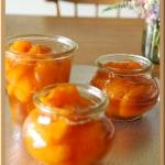 杏のコンポート (あんずのシロップ漬け)手作り保存食